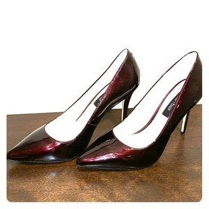 White House Black Market Burgundy Heels